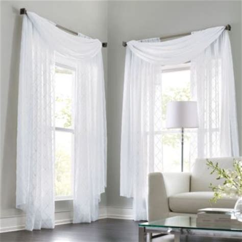 Sears Canada Curtains And Drapes by Wholehome Classic Tm Mc Leona Embroidered Sheer Rod