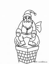 Coloring Chimney Santa Claus Colouring Blocked Designlooter Down Snow Under Hellokids Act 3kb 470px Nicholas Saint sketch template