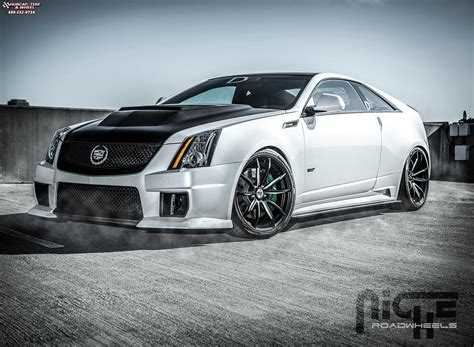 cadillac cts niche monza  wheels matte black brushed accents