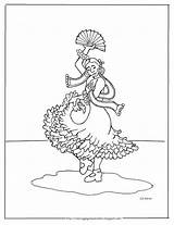 Spanish Flamenco Dancer Dancers Coloring Pages Printable Coloringpagesbymradron Printables Mr Children Crafts sketch template