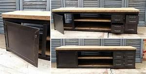 Meuble Tv Industriel : mobilier industriel l 39 or du temps fabriqu en france ~ Preciouscoupons.com Idées de Décoration
