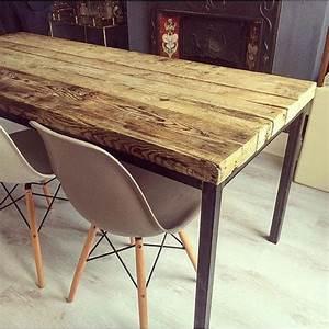 Table Metal Exterieur : contraste bois et m tal cocon d co vie nomade ~ Teatrodelosmanantiales.com Idées de Décoration