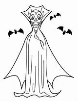 Vampire Coloring Halloween Coloriage Printable Dracula Kolorowanki Murcielagos Dibujos Imprimir Wampir Imprimer Hellokids Dzieci Dla Coloriages Ausmalen Colorier Zum Umhang sketch template