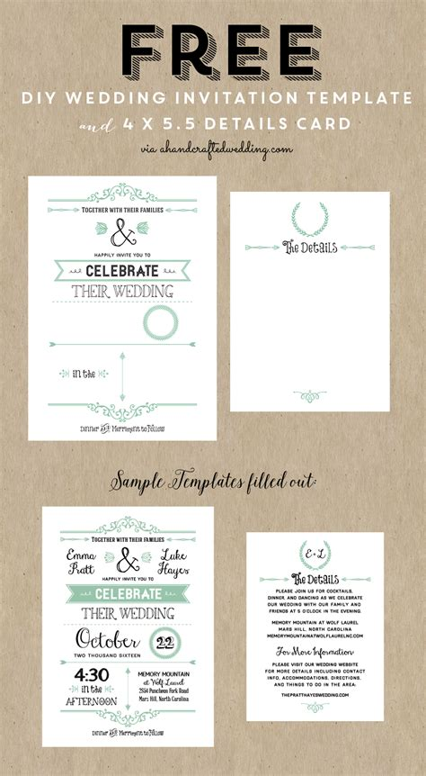 wedding invite template download free printable wedding invitation template free wedding