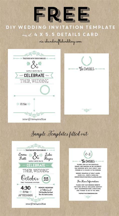 printable wedding invitation template  wedding