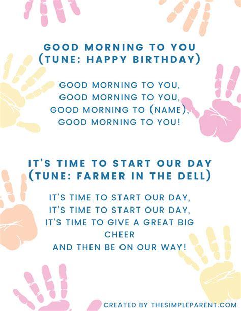 circle time songs that make preschool rock the simple 245 | good morning preschool songs