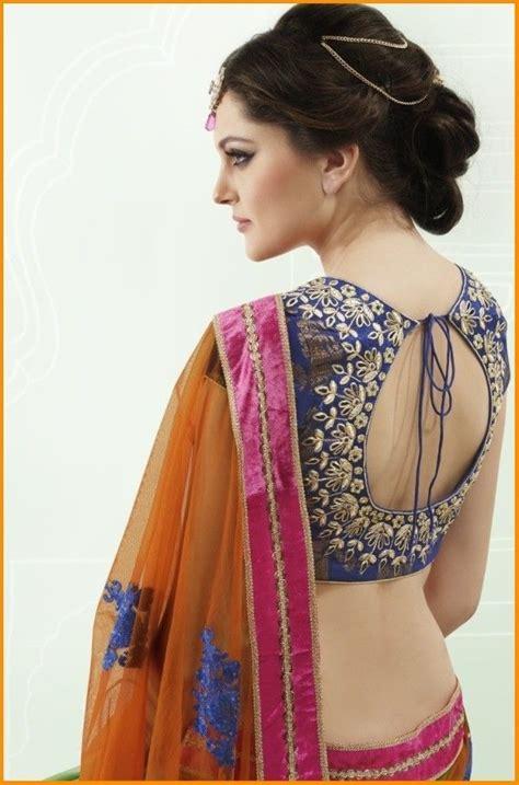 saree blouse  neck designs  saree blouse