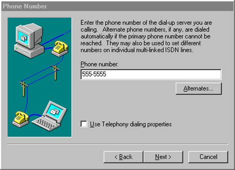 wish phone number windows nt ppp dialup setup