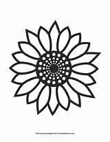 Sunflower Coloring Printable Pdf Primarygames Seasons Adult Ebook Svg Viatico sketch template