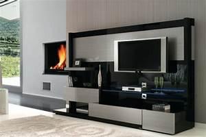 Meuble Mural Salon : meuble tv quelques exemples qui vous regadent ~ Teatrodelosmanantiales.com Idées de Décoration