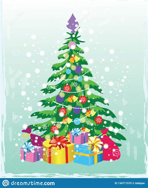 All freebies are available for just 24 hours, so download them fast before they expire. Christmas Tree With Decorations And Gift Boxes. Holiday ...