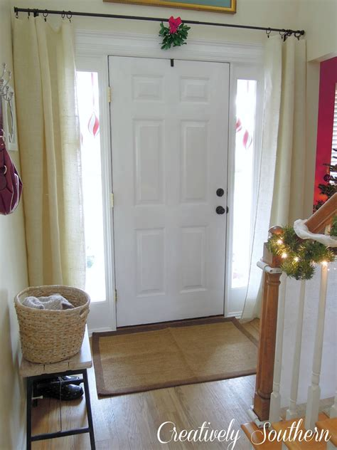 front door side window curtain rods front door curtains