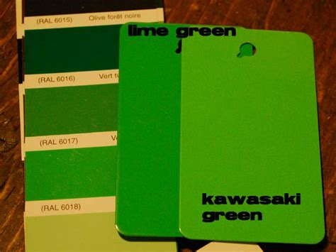 Kawasaki Green, Lime Green, Ral 6018  Powder Coating