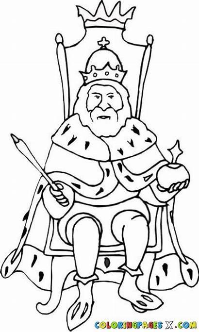 Throne Drawing King Sitting Coloring Getdrawings Drawings