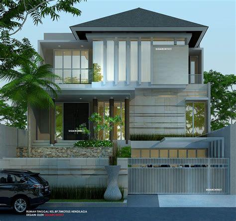 desain rumah lantai minimalis tropis gading griya