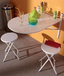 Table Murale Cuisine : table murale 2 tabourets sinai blanc ~ Teatrodelosmanantiales.com Idées de Décoration
