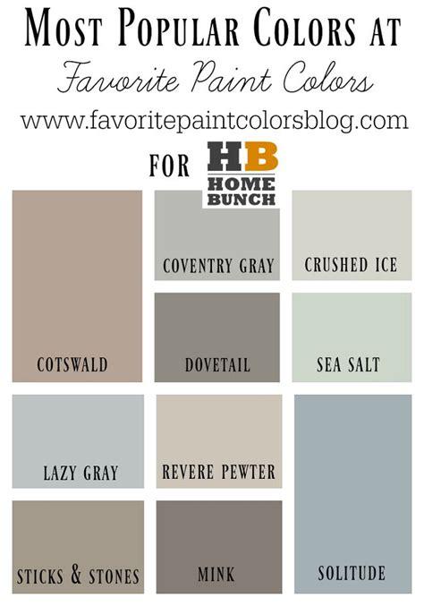 10 most popular paint colors favorite paint color