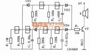Sirens Generator Circuit Composed Of Gate Circuit
