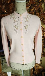 Beautiful Vintage 1950's Beaded Paisly, Rhinestone and ...