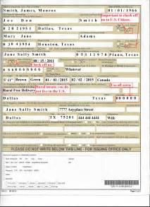 Passport Application Form Fill Example