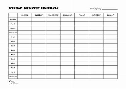 Schedule Weekly Activity Activities Template Clinical Studylib