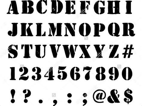 stencils letters  sample  format