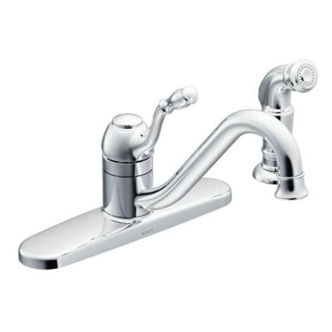discontinued kitchen faucets moen lindley single handle side sprayer kitchen faucet in