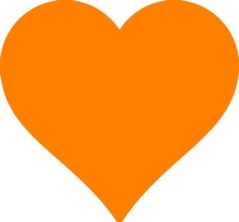 Orange Heart Clip Art at Clker.com - vector clip art