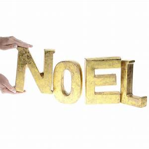 gold clay block quotnoelquot letters table decor christmas With gold block letters