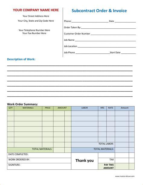 Free Printable Work Order Template 6 Free Work Order Template Timeline Template