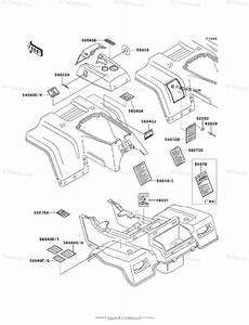 Kawasaki Atv 2001 Oem Parts Diagram For Labels
