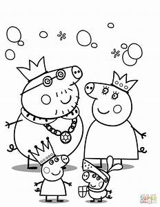 Peppa Pig39s Royal Family Coloring Page Free Printable Coloring Pages