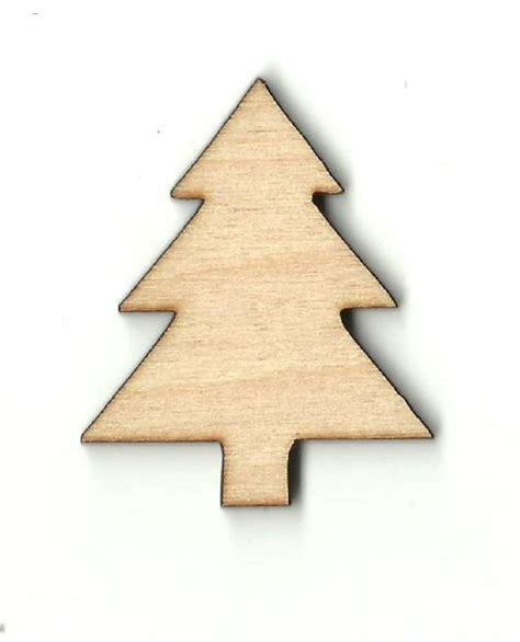 christmas pine tree unfinished wood shapes craft supplies