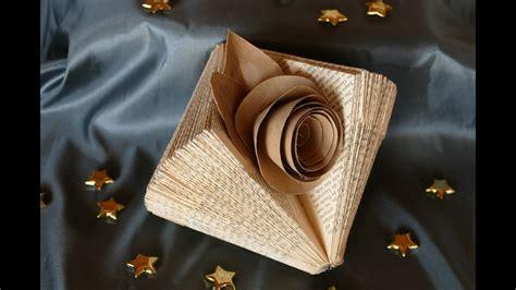 deko aus alten büchern deko basteln mit alten buchseiten tinker deco of book pages einfach