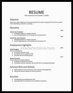 Simple resume for job simple job resume best for Easy resume