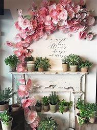 Tissue Paper Flower Wedding Decorations