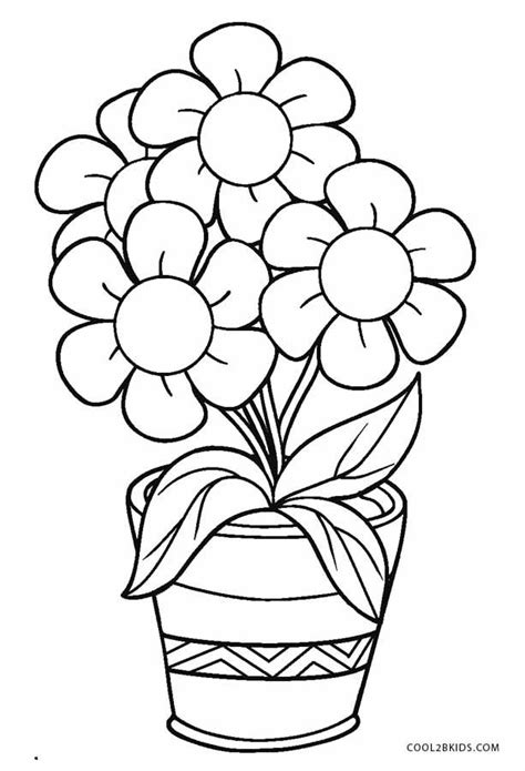 colouring sheets with flowers Printable flower coloring