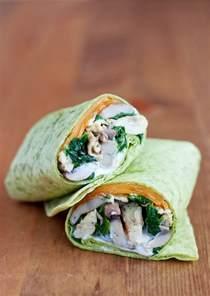 spinach mushroom scrambled egg wrap bs   kitchen