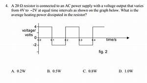 What Is The Electrical Energy Dissipated In The Resistor