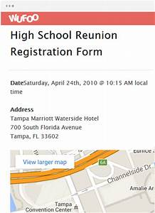 Online form template wufoo for High school registration form template