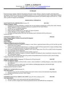 regulatory affairs resume sles resume templates for risk management bestsellerbookdb
