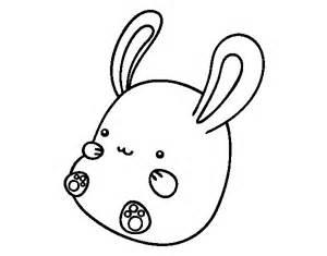 easter easter bunny dibujo de conejo bebé para colorear dibujos net