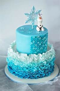 "You have to see My ""Frozen"" Ombre Ruffle Cake by Seb1079!"