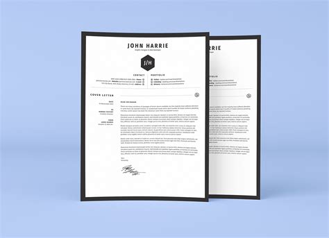 resume fre template psd free clean resume cv cover letter template in word psd