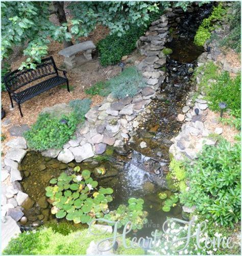 Diy Backyard Waterfall & Pond  All Things Heart And Home