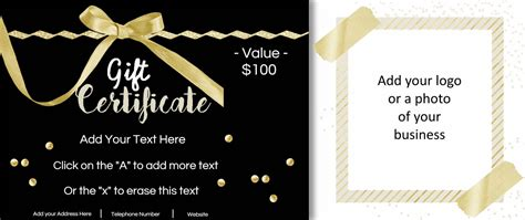 Graduation Gift Certificate Template Free by Gift Certificate Template With Logo
