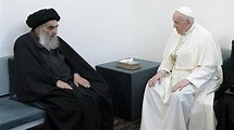 Pope Francis meets with senior Iraqi Shia cleric Grand ...