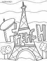 French Binder Pages Covers Coloring Subject Worksheets Classroom Subjects Language Printable Classroomdoodles Plus Arts Colouring Teacher France Books Activities Teaching sketch template