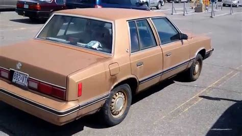 1982 DODGE ARIES ( K CAR ) - YouTube