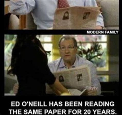 ed o neill newspaper ed o neill has been reading the same exact newspaper for